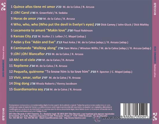 CDs de Música: Dúo dinámico: Quince años - Foto 2 - 28756756
