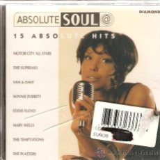 CDs de Música: CD ABSOLUTE SOUL : SALOMON BURKE, FONTELLA BASS, THE DRIFTERS, BEN E. KING, THE SUPREMES, SAM & DAVE. Lote 29057855