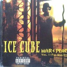 CDs de Música: ICE CUBE - WAR & PEACE. Lote 29334944