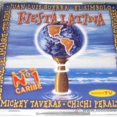 CDs de Música: FIESTA LATINA - JUAN LUIS GUERRA / TITO ROJAS / SERGIO VARGAS / RUBBY PEREZ - 2 CD - COMO NUEVO. Lote 29425329