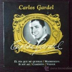 CDs de Música: CARLOS GARDEL - EL DIA QUE ME QUIERAS - 5 TRACKS - CD SINGLE - PROMO - 2003. Lote 29927282