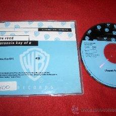 CDs de Música: LOUD REED PARANOIA KEY OF E CD SINGLE 2000 PROMO. Lote 29670708