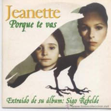 CDs de Musique: JEANETTE,PORQUE TE VAS CD SINGLE PROMO DEL 96. Lote 29761092