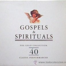 CDs de Música: ESTUCHE CON 2 CD'S GOSPELS & SPIRITUALS THE GOLD COLLECTION 40 CLASSIC PERFORMANCES, ENV. GRATIS. Lote 30051870