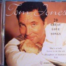 "CDs de Música: CD TOM JONES ""20 GREAT LOVE SONGS. Lote 30081866"