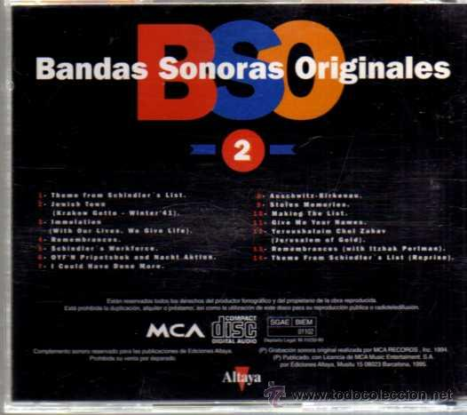 CDs de Música: CD - BSO - SCHINDLERS LIST - MCA RECORDS - ALTAYA - 1995 - Foto 2 - 30236526
