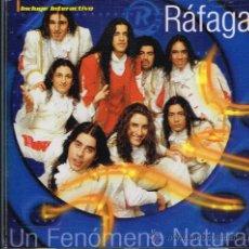 CDs de Música: RAFAGA - UN FENÓMENO NATURAL - CD 2000. Lote 30396948