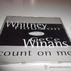 CDs de Música: WHITNEY HOUSTON & CECE WINANS COUNT ON ME CD SINGLE PROMO PLASTICO 1 TEMA INEDITO NO PUBLICADO . Lote 30454079