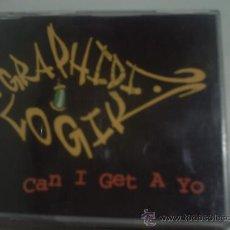 CDs de Música: GRAPHIDI LOGIK / CAN I GET A YO / 4TRACK / CD PEPETO. Lote 149959520