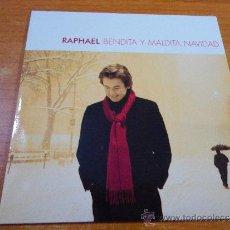 CDs de Musique: RAPHAEL BENDITA Y MALDITA NAVIDAD CD SINGLE PROMOCIONAL EDICION LIMITADA 200 COPIAS 2004. Lote 140298042