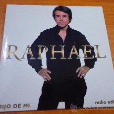 CDs de Musique: RAPHAEL DIJO DE MI (RADIO EDIT) CD SINGLE PROMOCIONAL DE CARTON AÑO 2004 ALBERTO CORTEZ 1 TEMA. Lote 140298274