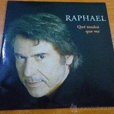 CDs de Musique: RAPHAEL QUE TENDRA QUE VER CD SINGLE PROMOCIONAL PORTADA DE CARTON AÑO 2003 1 TEMA. Lote 30889354
