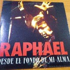 CDs de Musique: RAPHAEL DESDE EL FONDO DE MI ALMA CD SINGLE PROMOCIONAL PORTADA DE CARTON AÑO 1995 CONTIENE 1 TEMA. Lote 30676309