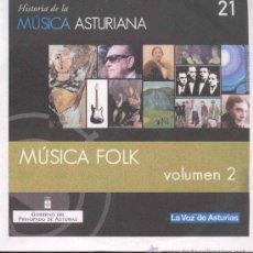 CD de Música: HISTORIA DE LA MUSICA ASTURIANA - MUSICA FOLK VOLUMEN 2 (TITULOS EN FOTO ADICIONAL). Lote 30732959