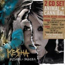 CDs de Música: KESHA * 2 CD * SPECIAL DELUXE EDITION * ANIMAL + CANNIBAL * PRECINTADO. Lote 163067272