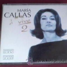 CDs de Música: MARIA CALLAS VIVE 2 DOBLE CD 1996. Lote 30881226