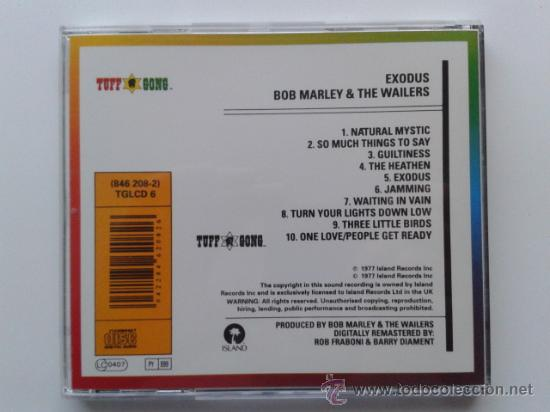 CDs de Música: EXODUS - BOB MARLEY AND THE WAILERS - CD - IMPECABLE - Foto 2 - 31183587