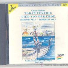 CDs de Música: MAHLER, SINFONIA 5 (2CD). Lote 31199502