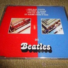 CDs de Música: DES BEATLES THE BEATLES CD SINGLE PROMO FRANCIA 5 SEGUNDOS DE CADA TEMA DE ALBUMES ROJO Y AZUL RARO. Lote 31243641