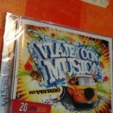 CDs de Música: CD VIAJE CON MUSICA 20 SUPER ÉXITOS VERANIEGOS IMPRESCINDIBLES NUEVO Y PRECINTADO PARA ESTRENAR. Lote 31612944