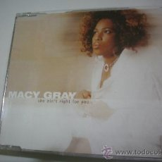 CDs de Música: MACY GRAY / SHE AIN´T RIGHT FOR YOU (CD SINGLE 2003) PEPETO RECORDS. Lote 31654961