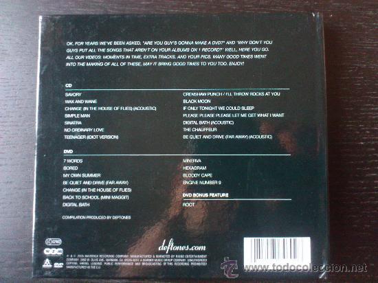 CDs de Música: DEFTONES - B- SIDES AND RARITIES - CD + DVD - EDICION ESPECIAL - MAVERICK - WARNER - 2005 - Foto 3 - 32408549