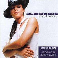 CDs de Música: ALICIA KEYS * CD * SON IN A MINOR * SPECIAL EDITION * BONUS ENHANCED VIDEOS * INENCONTRABLE. Lote 31894636