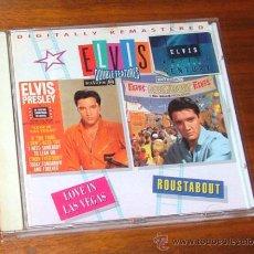 CDs de Música: CD 'ELVIS DOUBLE FEATURES: LOVE IN LAS VEGAS + ROUSTABOUT' (ELVIS PRESLEY). Lote 31938091