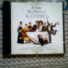 CDs de Música: CD BSO CUATRO BODAS Y UN FUNERAL. Lote 31926514