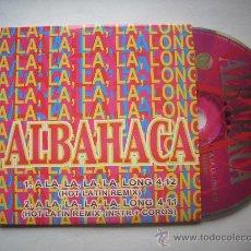 CDs de Música: ALBAHACA / 2 VERSIONES A LA, LA, LA, LA, LONG (2001) PEPETO RECORDS. Lote 32012120
