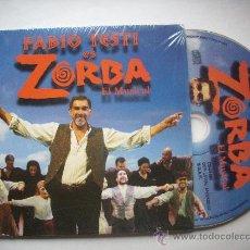 CDs de Música: FABIO TESTI ES ZORBA / EL MUSICAL (3 TEMAS) (CD SINGLE) PEPETO RECORDS. Lote 32012374
