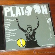 CDs de Música: CD BANDA SONORA 'PLATOON (AND SONGS FROM THE ERA)' (GEORGES DELERUE, THE DOORS, JEFFERSON AIRPLANE). Lote 32067778