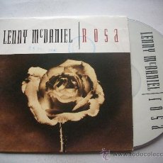 CDs de Música: LENNY MCDANIEL / ROSA - TALK REAL SLOW (CD SINGLE 1994) PEPETO. Lote 32076627