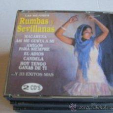 CDs de Música: LAS MEJORES RUMBAS Y SEVILLANAS DOBLE CD. Lote 32106646