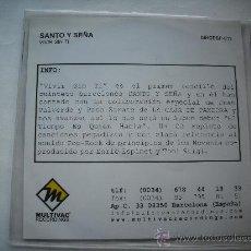 CDs de Música: SANTO Y SEÑA/ VIVIR SIN TI /CD SINGLE / PEPETO RECORDS. Lote 32119700