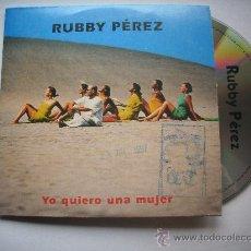 CDs de Música: RUBBY PEREZ / YO QUIERO UNA MUJER + Y NOS DIERON LAS DIEZ/ CD SINGLE PROMO PEPETO. Lote 32201585