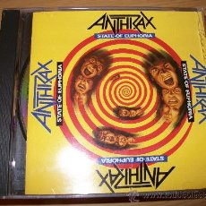 CDs de Música: CD ANTHRAX - STATE OF EUPHORIA - ISLAND RECORDS 1988 - THRASH METAL. Lote 32283445