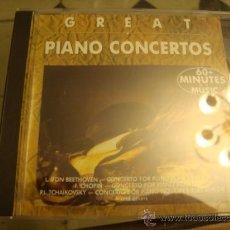 CDs de Música: CREAT PIANO CONCERTOS, CONCIERTO DE PIANO. Lote 32375773