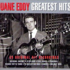 CDs de Música: DUANE EDDY - GREATEST HITS ( DOBLE CD 2011 ) 50S ROCK & ROLL, SURF,. Lote 32386692