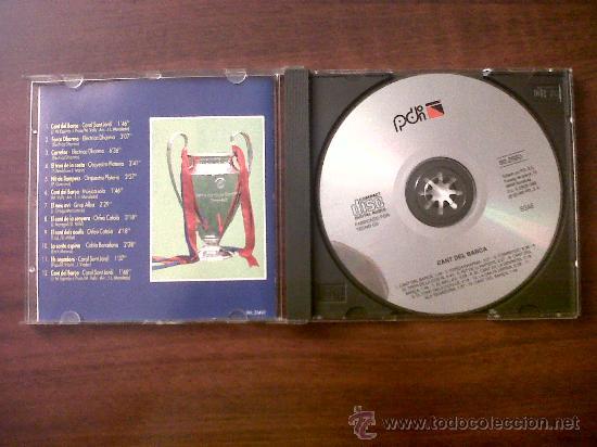 CDs de Música: CD CANT DEL BARÇA-CORAL SANT JORDI-HIMNE OFICIAL DEL BARÇA-1992-EL CANT DE LA SENYERA-ORFÉO CATALÀ - Foto 2 - 32454648