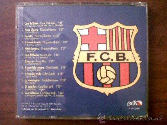 CDs de Música: CD CANT DEL BARÇA-CORAL SANT JORDI-HIMNE OFICIAL DEL BARÇA-1992-EL CANT DE LA SENYERA-ORFÉO CATALÀ - Foto 3 - 32454648