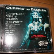 CDs de Música: CD OST QUEEN OF THE DAMNED - DISTURBED, LINKIN PARK, MARILYN MANSON, DEFTONES, ORGY, PAPA ROACH, .... Lote 32474969