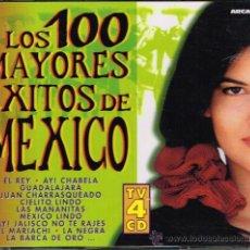 CDs de Música: PAQUITA LA DEL BARRIO / FLOR SILVESTRE / CHELO, ETC - LOS 100 MAYORES ÉXITOS DE MEXICO - 4 CD 1999. Lote 32641306