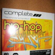 CDs de Música: 2CD+DVD THE COMPLETE HIP-HOP ALBUM - PRECINTADO - BUSTA RHYMES , AFRIKA BAMBAATAA , WU TANG , CHUCK . Lote 32782719
