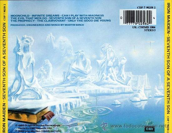 CDs de Música: IRON MAIDEN SEVENTH SON OF A SEVENTH SON CD ORIGINAL - Foto 2 - 32801218