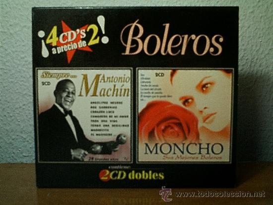 BOLEROS.MONCHO-ANTONIO MACHIN.4 CDS. (Música - CD's Latina)