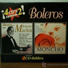 CDs de Música: BOLEROS.MONCHO-ANTONIO MACHIN.4 CDS.. Lote 33250365