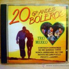 CDs de Música: 20 GRANDES BOLEROS.TRIO MEXICO.. Lote 33262081