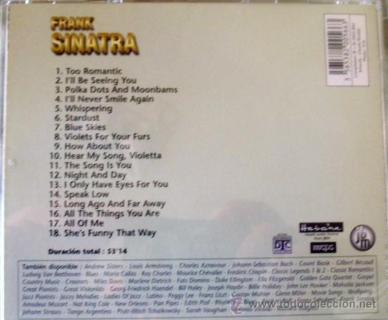 CDs de Música: CD DE FRANK SINATRA CON 18 DE SUS PRIMEROS TEMAS - Foto 2 - 33319474
