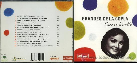 CD. GRANDES DE LA COPLA. CARMEN SEVILLA (Música - CD's Flamenco, Canción española y Cuplé)